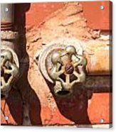 Plumbing And Mortar Acrylic Print by Douglas Barnett