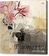 Plumeria - 064073079m3 Acrylic Print