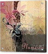 Plumeria - 64-115152167m4t3b Acrylic Print