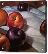 Plums And Nectarines Acrylic Print by Timothy Jones