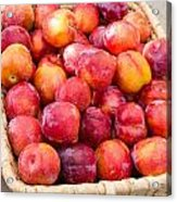 Plums In A Basket Acrylic Print
