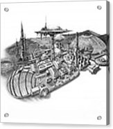 Pluto City Acrylic Print