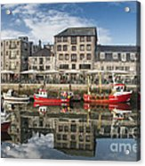 Plymouth Barbican Harbour Acrylic Print by Donald Davis