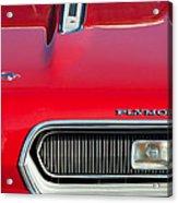 Plymouth Barracuda Grille Emblem Acrylic Print