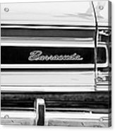 Plymouth Barracuda Taillight Emblem -0711bw Acrylic Print