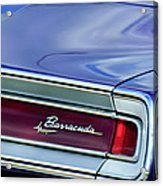Plymouth Barracuda Taillight Emblem Acrylic Print