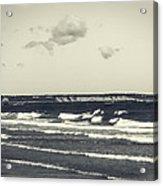Plymouth Cliffs Acrylic Print