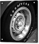 Plymouth Cuda Rallye Wheel Acrylic Print by Paul Velgos