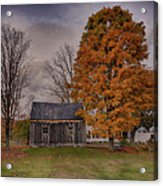 Plymouth Notch Barn In The Fall Acrylic Print