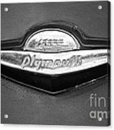 Plymouth Trunk Emblem Acrylic Print