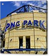 Pnc Park Baseball Stadium Pittsburgh Pennsylvania Acrylic Print by Amy Cicconi
