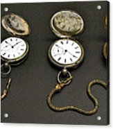 Pocket Watches Acrylic Print
