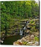 Poconos Ledges Waterfall Acrylic Print