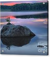 Poconos Sunset Mirror Acrylic Print