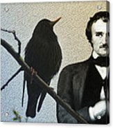 Poe And The Raven Acrylic Print