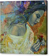 Poem At Twilight Acrylic Print by Dorina  Costras