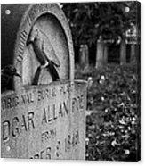 Poe's Original Grave Acrylic Print by Jennifer Ancker