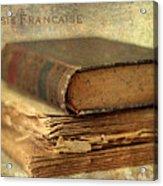 Poesie Francaise Acrylic Print