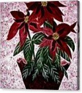 Poinsettias Expressive Brushstrokes Acrylic Print