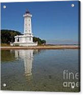 Point Abino Lighthouse Reflection Acrylic Print