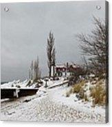 Point Betsie In Winter Acrylic Print