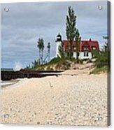 Point Betsie Lighthouse Classic View Acrylic Print
