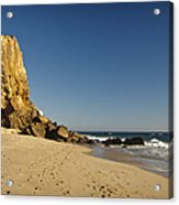 Point Dume At Zuma Beach Acrylic Print by Adam Romanowicz