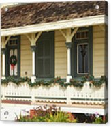 Point Fermin Lighthouse Christmas Porch Acrylic Print