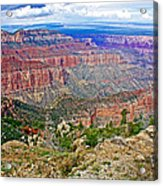 Point Imperial 8803 Feet On North Rim Of Grand Canyon National Park-arizona   Acrylic Print