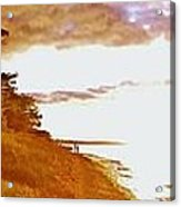 Point Iroquois Pano Sunset Acrylic Print