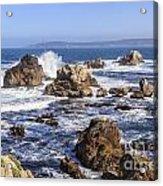 Point Lobos Rocks And Waves Acrylic Print