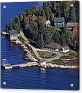 Point Lookout, At The Isle Of Haut Acrylic Print by Dave Cleaveland