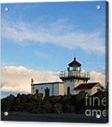 Point No Point Lighthouse Acrylic Print