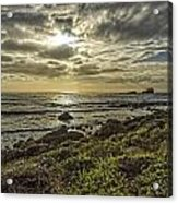 Point Piedras Blancas Sunset 1 Acrylic Print