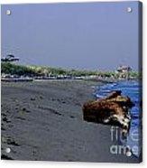 Point Wilson Lighthouse And Beach Acrylic Print