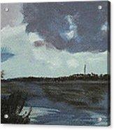 Pointe Aux Chein Blue Skies Acrylic Print