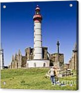 Pointe Saint Mathieu Brittany France Acrylic Print by Colin and Linda McKie