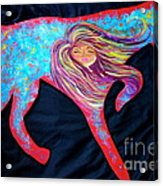 Pointer Cut Out With Wind Blowing Acrylic Print