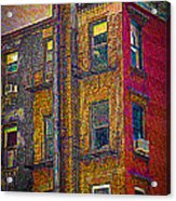 Pointillism In Steel And Brick Acrylic Print
