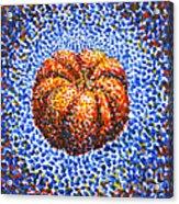 Pointillism Pumpkin Acrylic Print