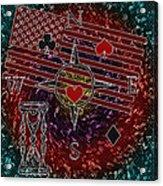 Poker Addiction Digital Painting Acrylic Print