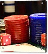 Poker Chips Acrylic Print by Paul Ward
