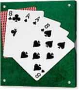 Poker Hands - Dead Man's Hand 2 V.2 Acrylic Print