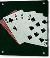 Poker Hands - Dead Man's Hand Acrylic Print
