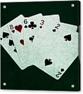 Poker Hands - High Card 4 Acrylic Print
