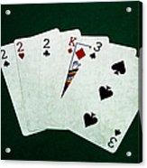 Poker Hands - Three Of A Kind 1 Acrylic Print