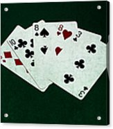 Poker Hands - Two Pair 4 Acrylic Print
