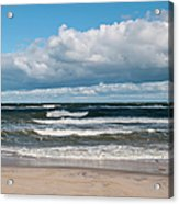 Poland, View Of Baltic Sea In Autumn At Acrylic Print