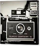 Polaroid Countdown 90 Acrylic Print
