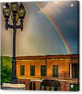 Police At The End Of The Rainbow Acrylic Print